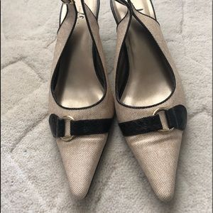 LifeStride Heels size 8 tan and brown